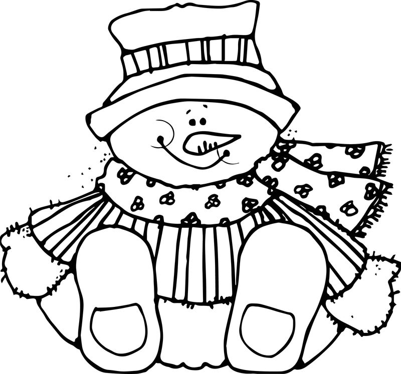 Dj Inkers Winter Coloring Page