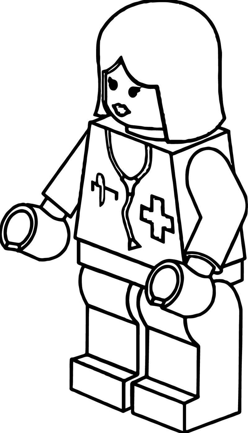 Doctor Lego Girl Robot Coloring Page