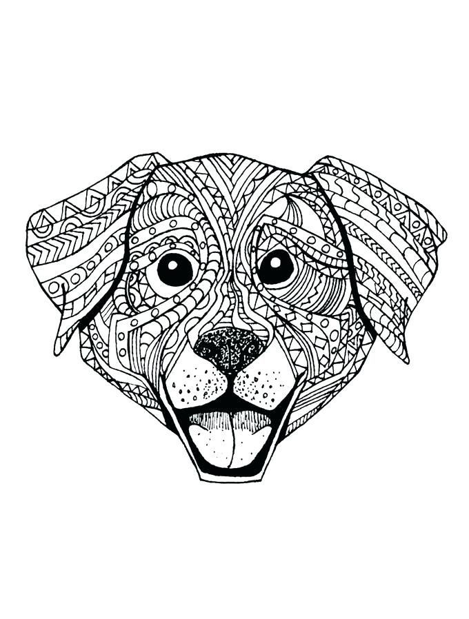 Dog Animal Coloring Pages For Adults