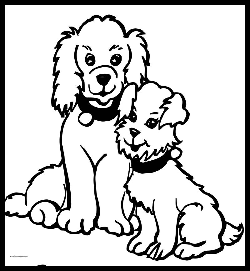 Dog coloring pages 007