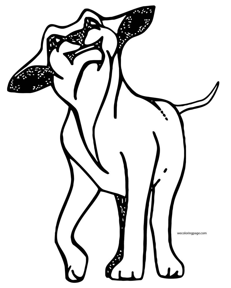 Dog Coloring Pages 031