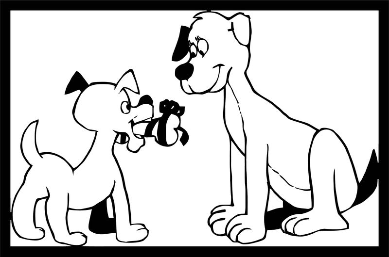 Dog Coloring Pages 083