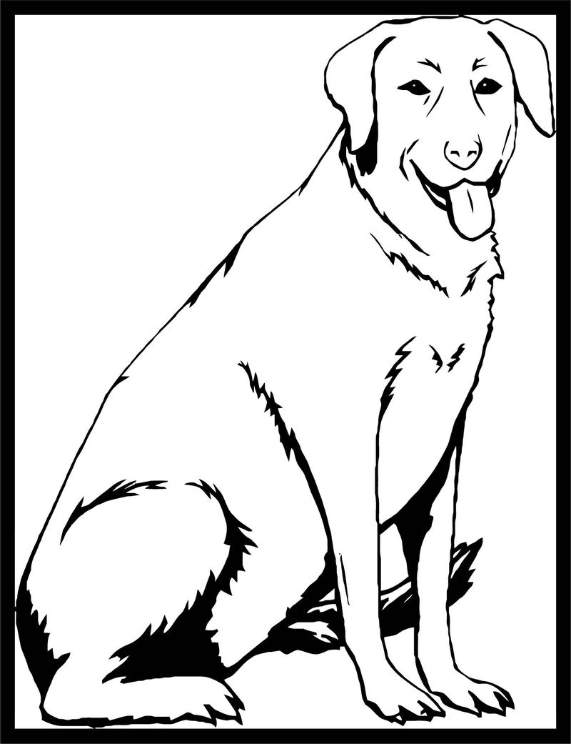 Dog Coloring Pages 096