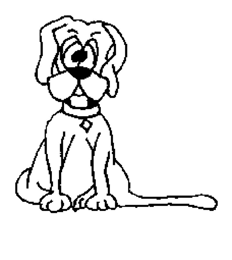 Dog Coloring Pages 098