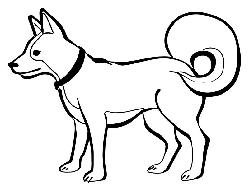 Dog Coloring Pages 175