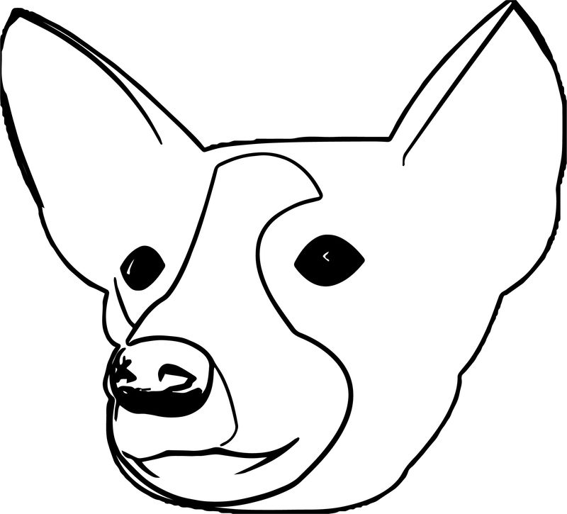 Dog Head Portrait Puppy Dog Coloring Page