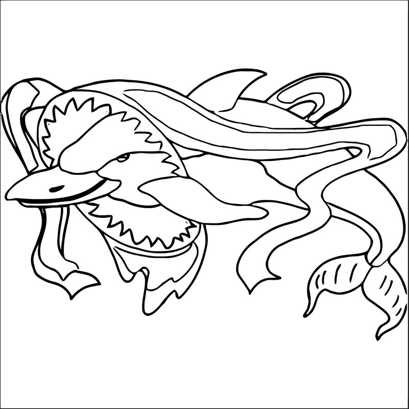 Dolphin Coloring Page 046
