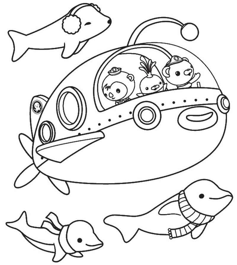 Dolphins Octonauts Coloring Pages