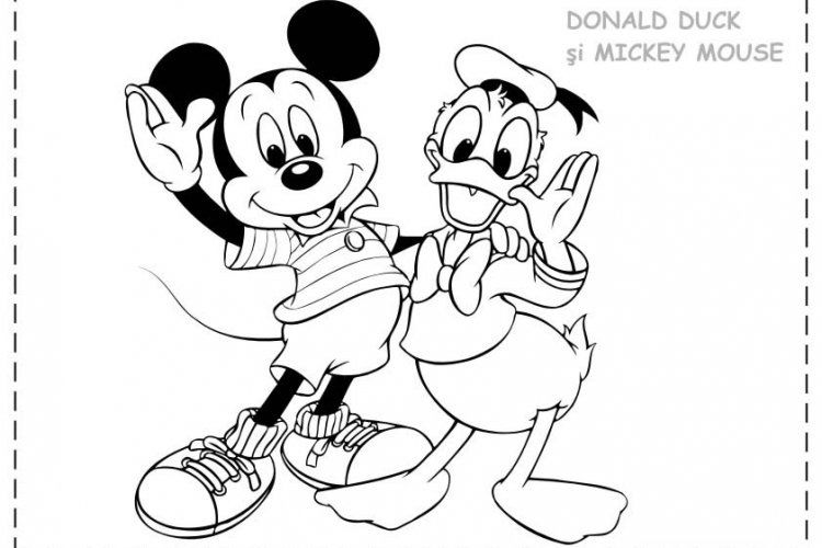 Donald Duck And Mickey Mouse Coloring Pages