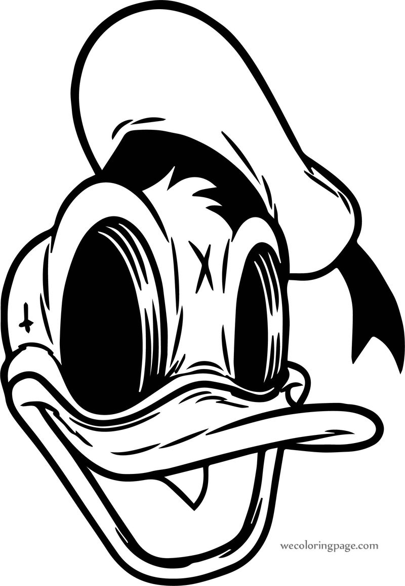 Donald Duck Creep Donald Duck Coloring Page