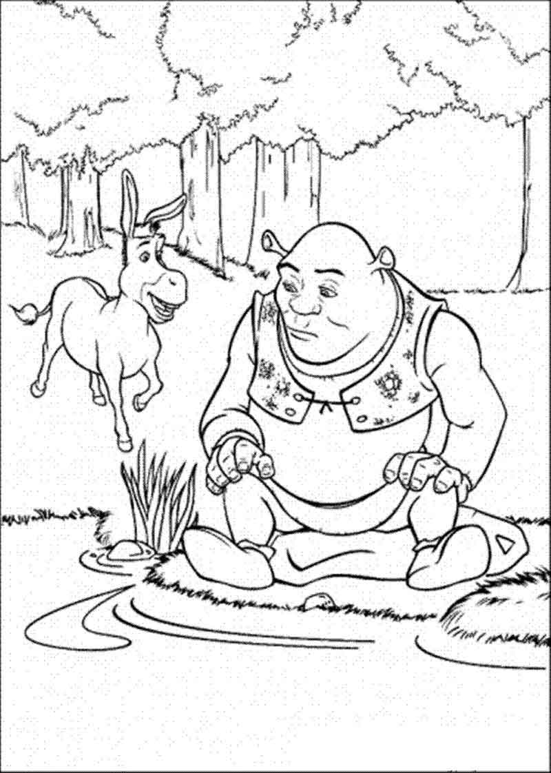 Donkey And Shrek Coloring Pages
