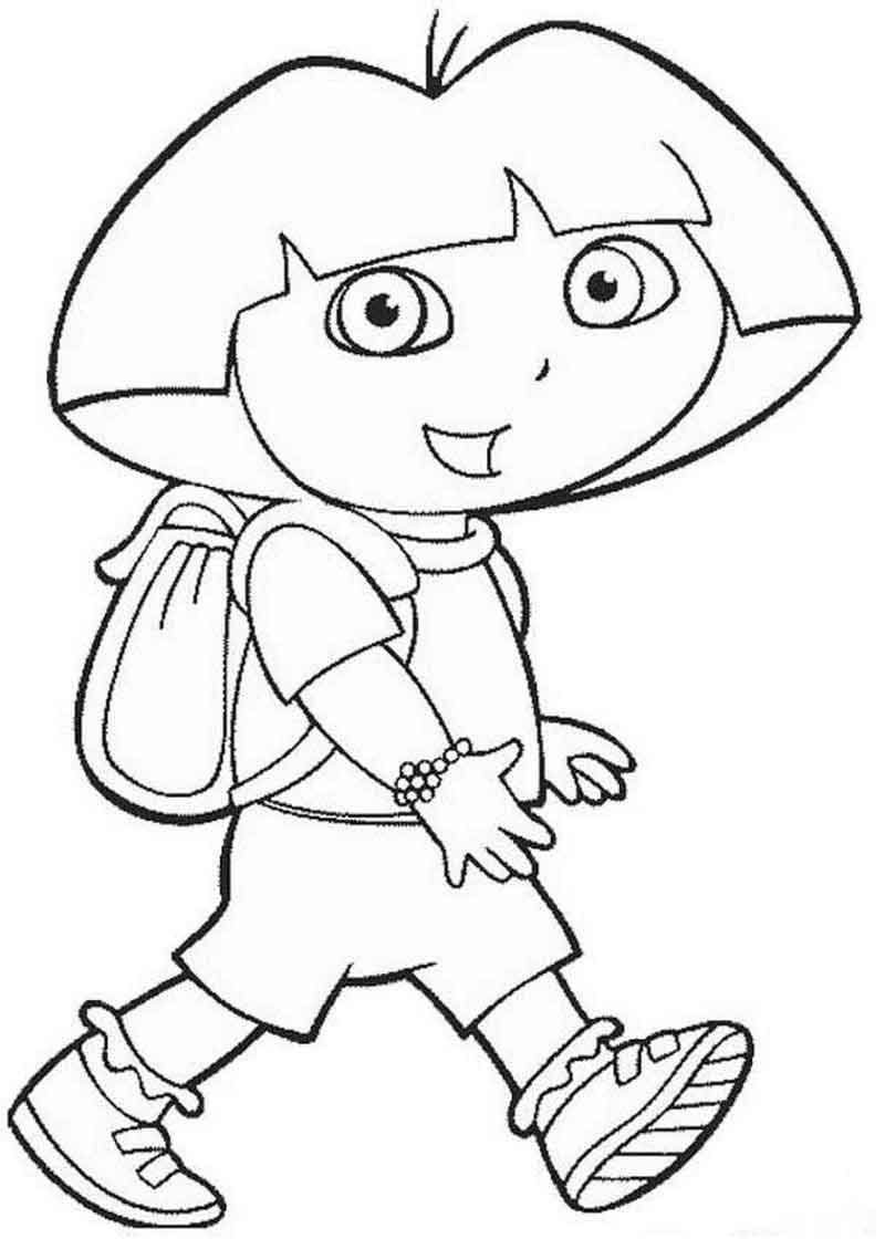 Dora The Explorer Color Pages (1)