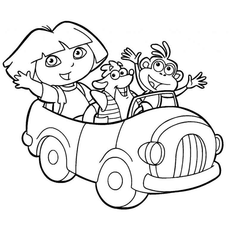 Dora The Explorer Coloring Book Pages (1)