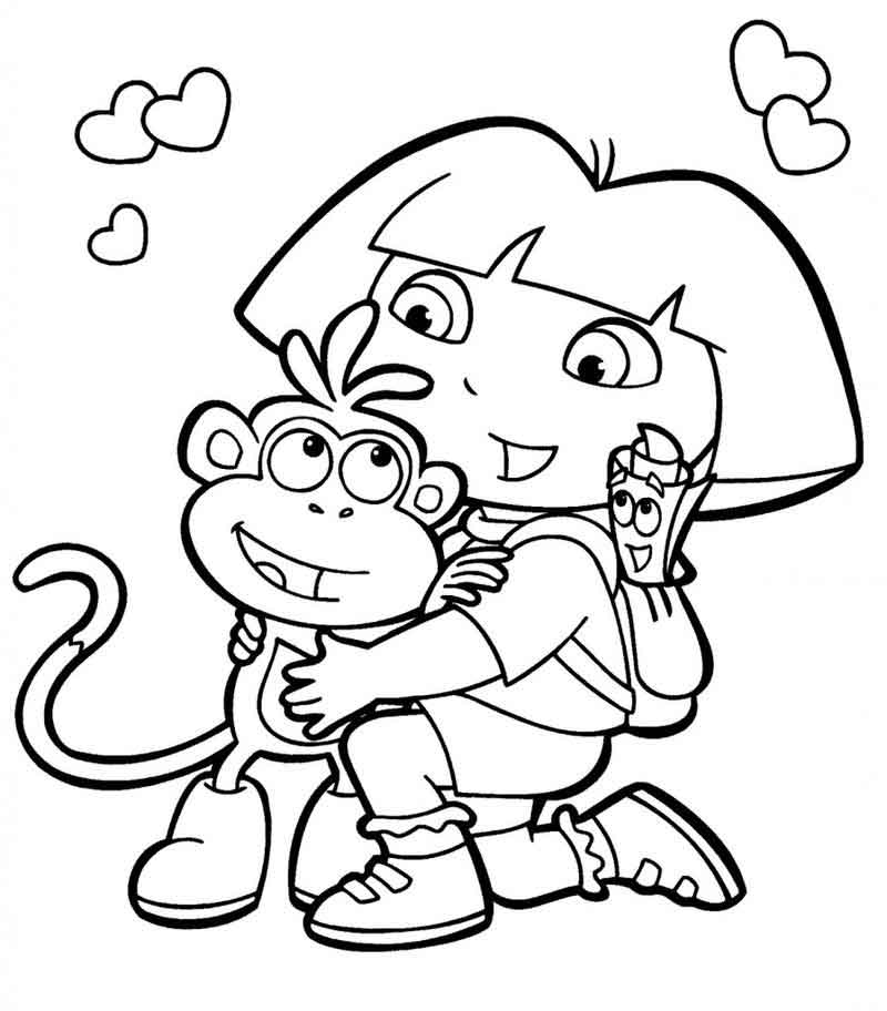 Dora The Explorer Coloring Page (1)