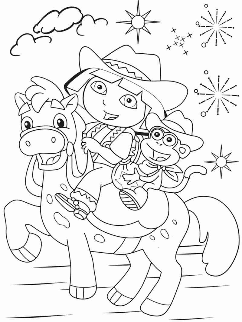 Dora The Explorer Coloring Pages For Kids (1)