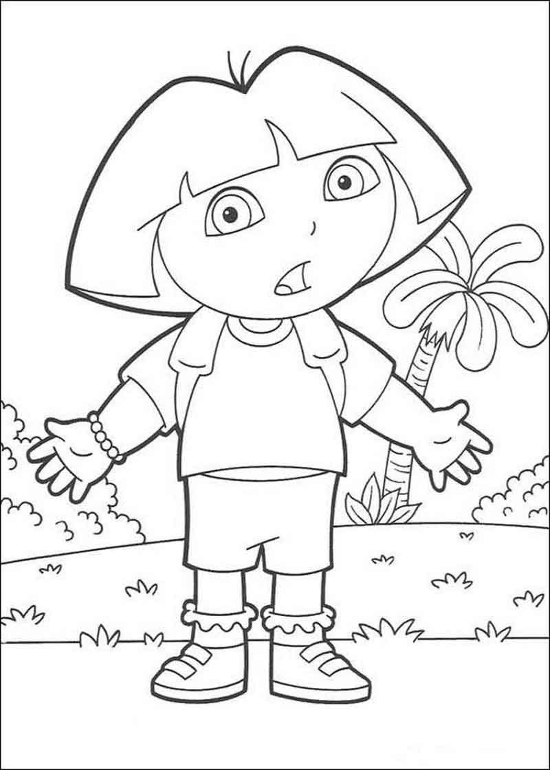 Dora The Explorer Coloring Pages Photos