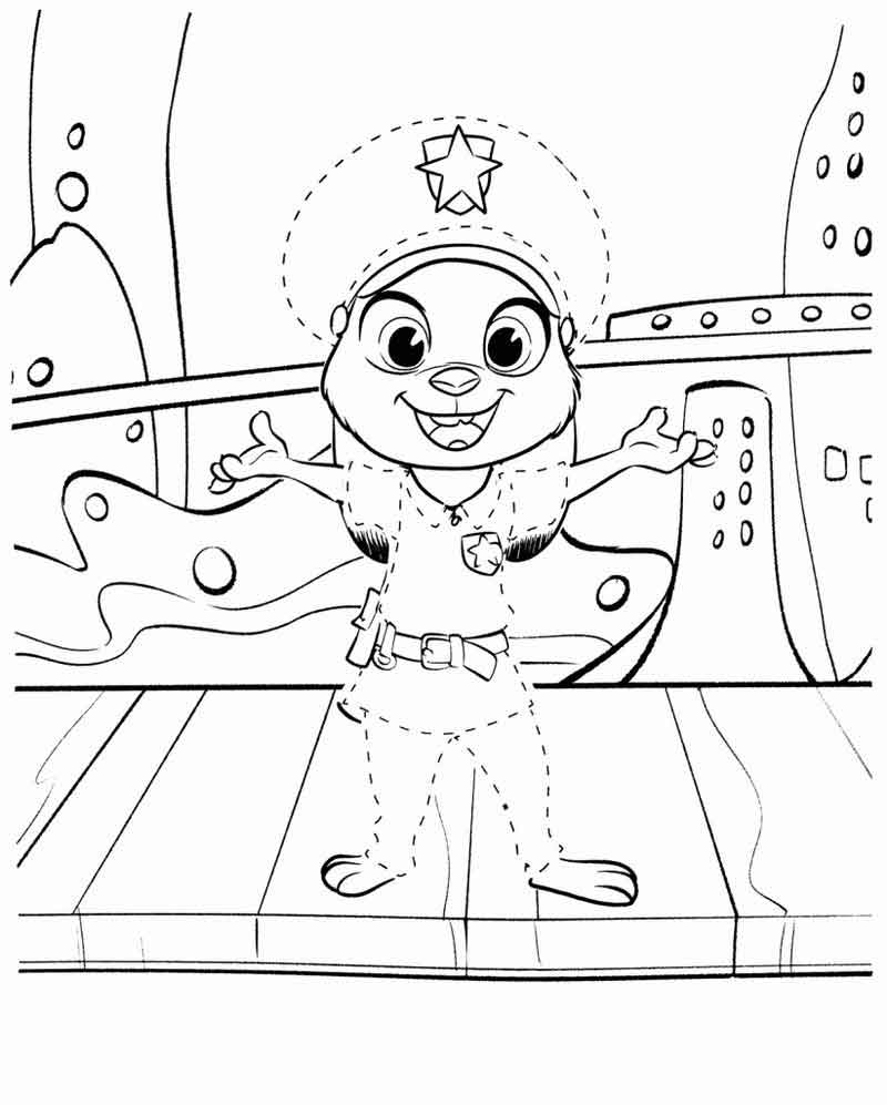 Download Zootopia Coloring Pages