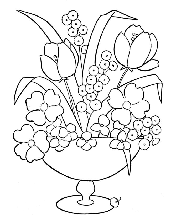 Download Flowers To Color 001