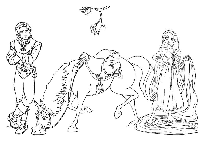 Download Free Rapunzel Coloring Page Images 1