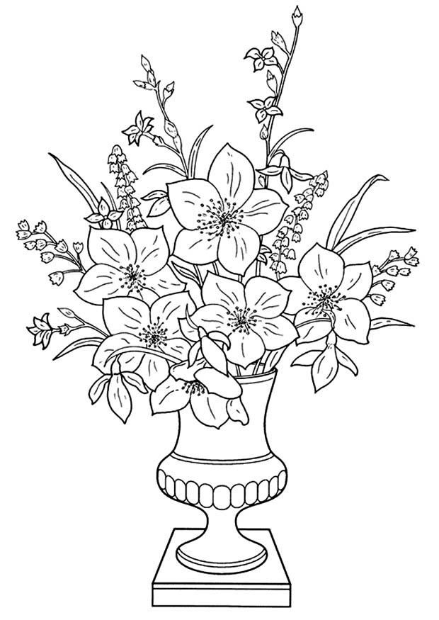 Download Lily Flowers To Color 001