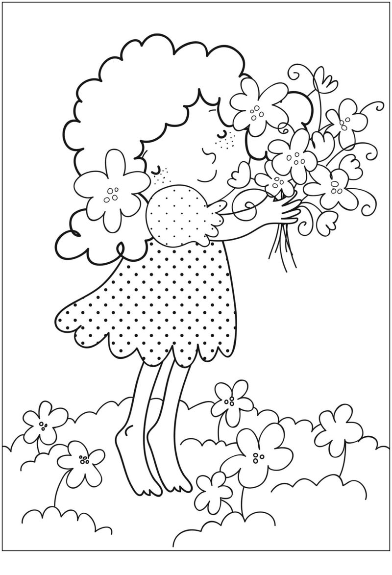 Download Printable Flower Coloring Pages 001