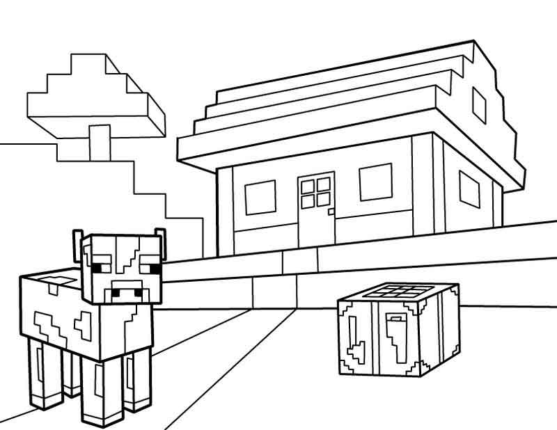 Download Free Minecraft Coloring Pages