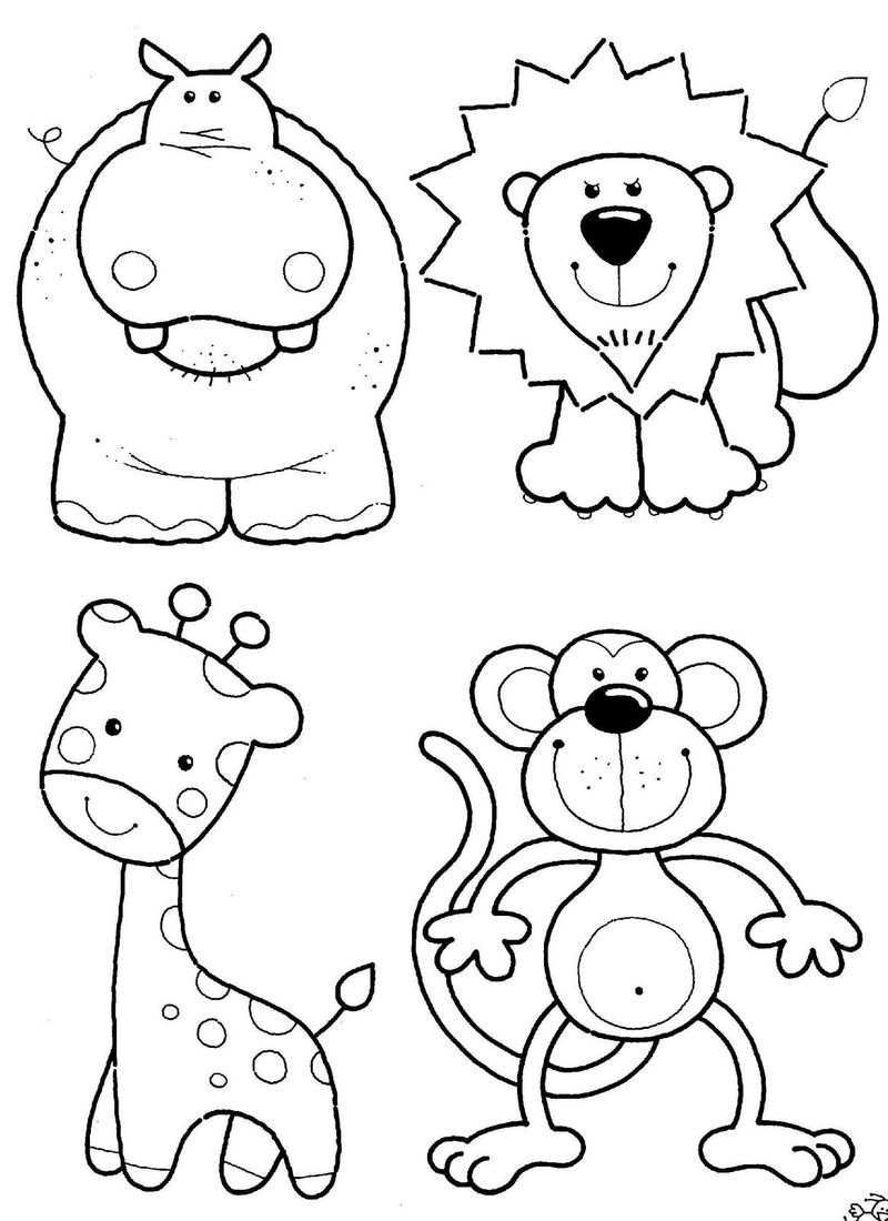 Downloadable Coloring Pages Animal