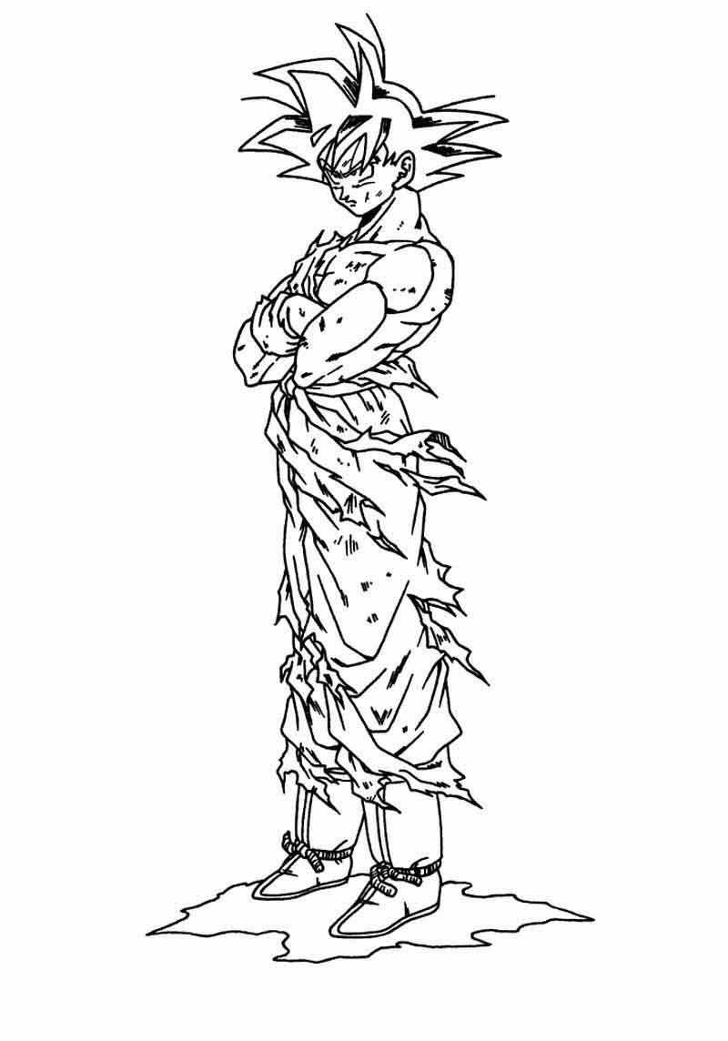 Dragon Ball Coloring Pages For Kids