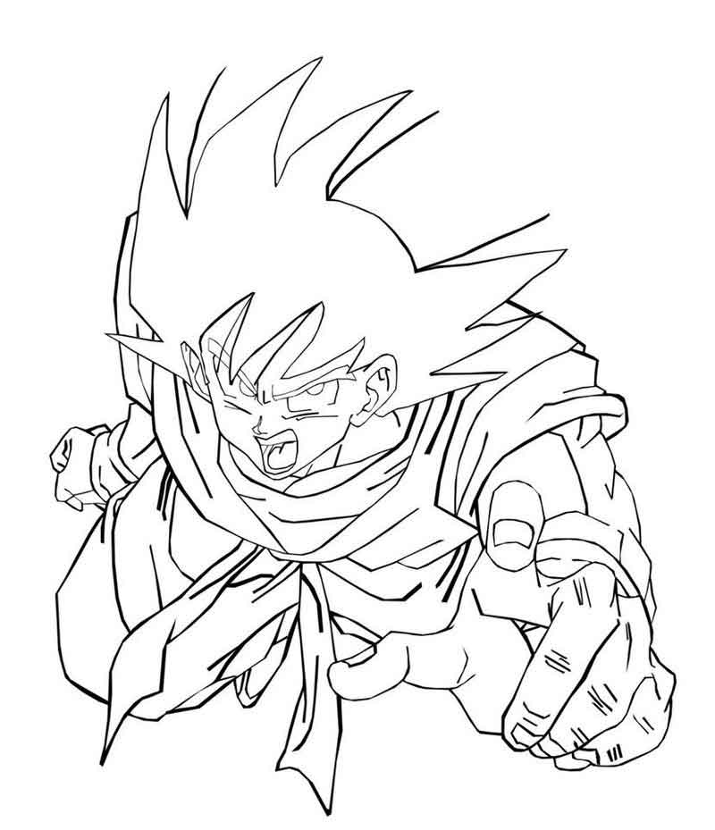 Dragon Ball Z Coloring Pages Of Goku