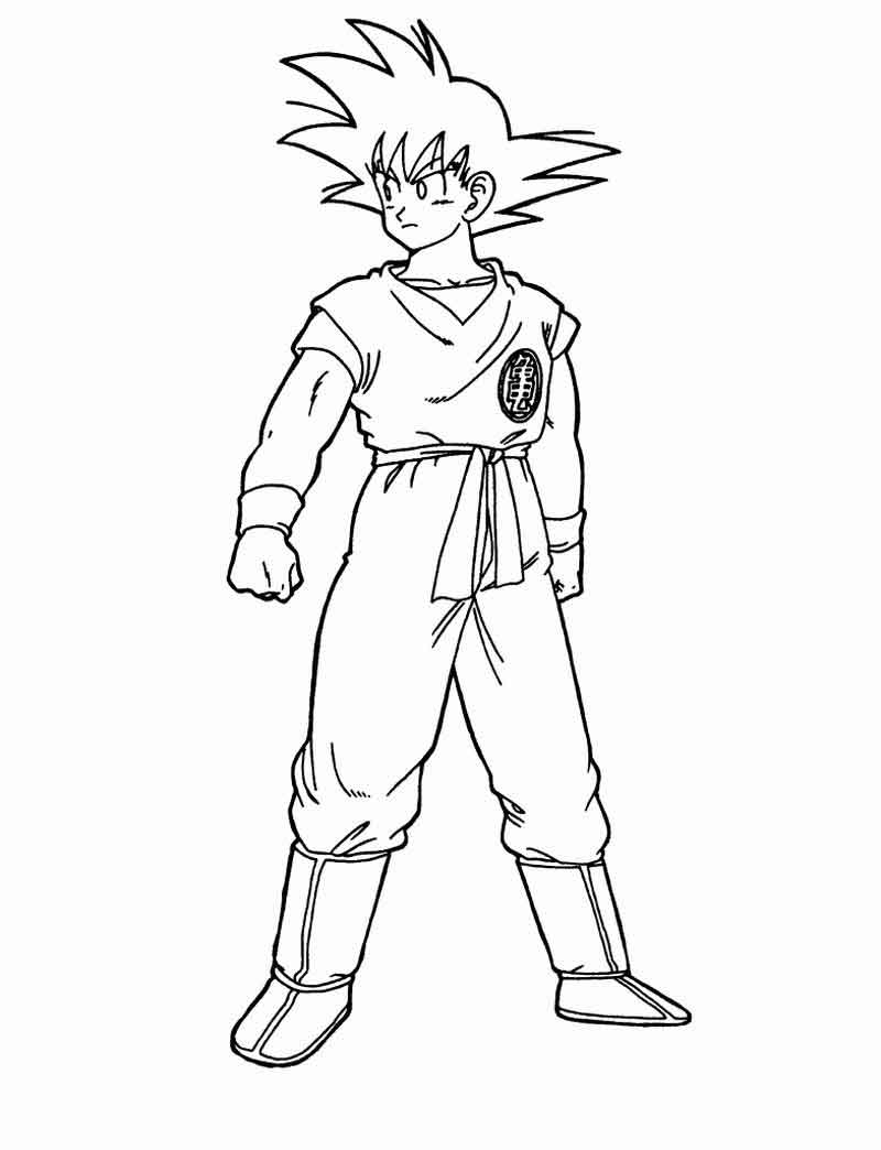 Dragon Ball Z Printables Coloring Pages