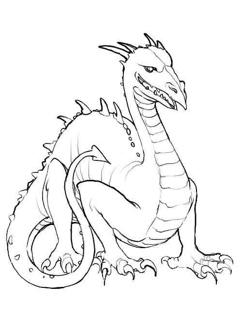 Dragon Coloring Pages 1 001