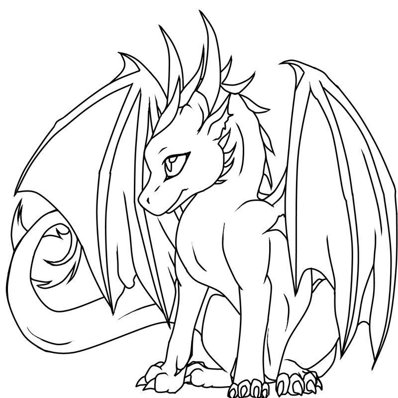 Dragon Coloring Pages Activity 001