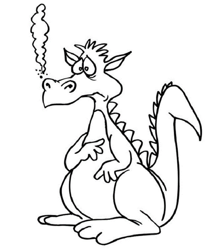 Dragon Coloring Pages Activity