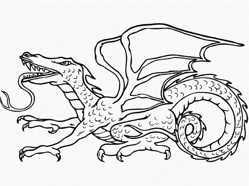 Dragon Coloring Pages Kindergarten