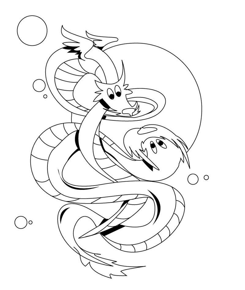 Dragon Coloring Pages Printable 001