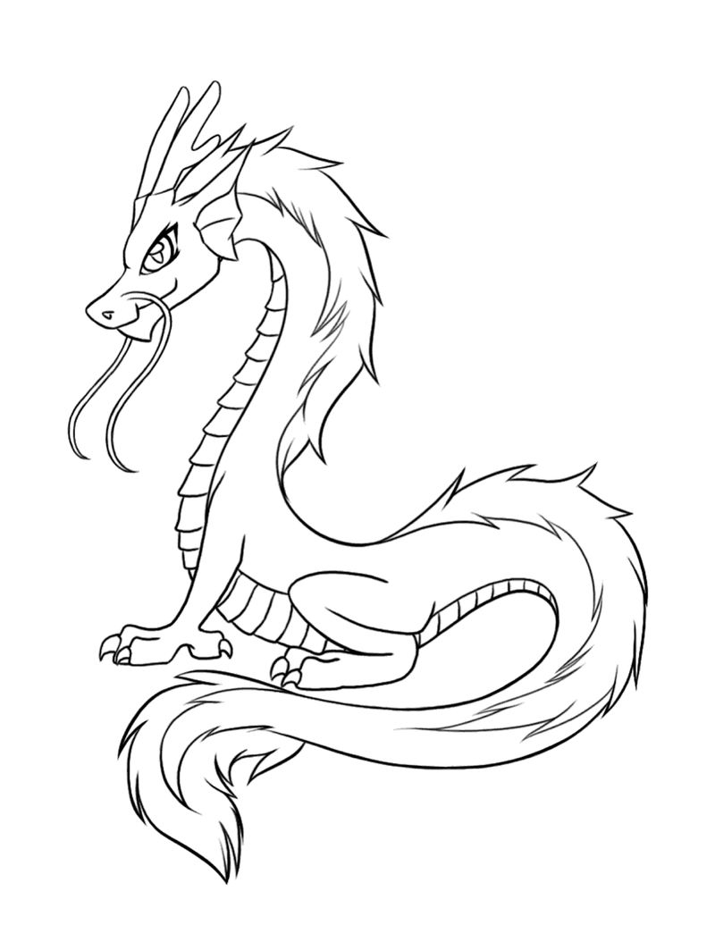 Dragon Colouring Pages Printable