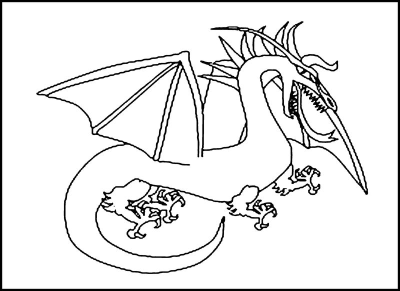 Dragon Printable Coloring Pages 001