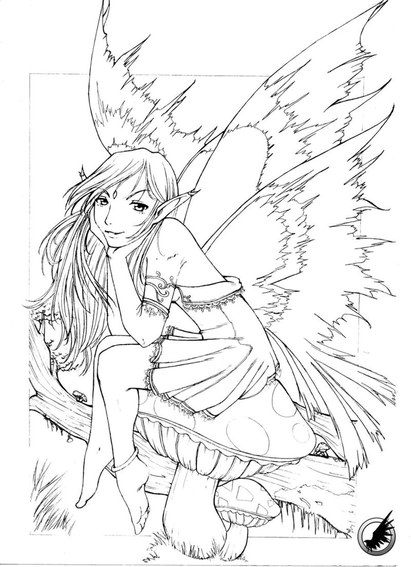 Drawing Of Fairy To Color