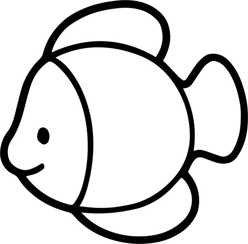 Drawing Of Fish Coloring Page