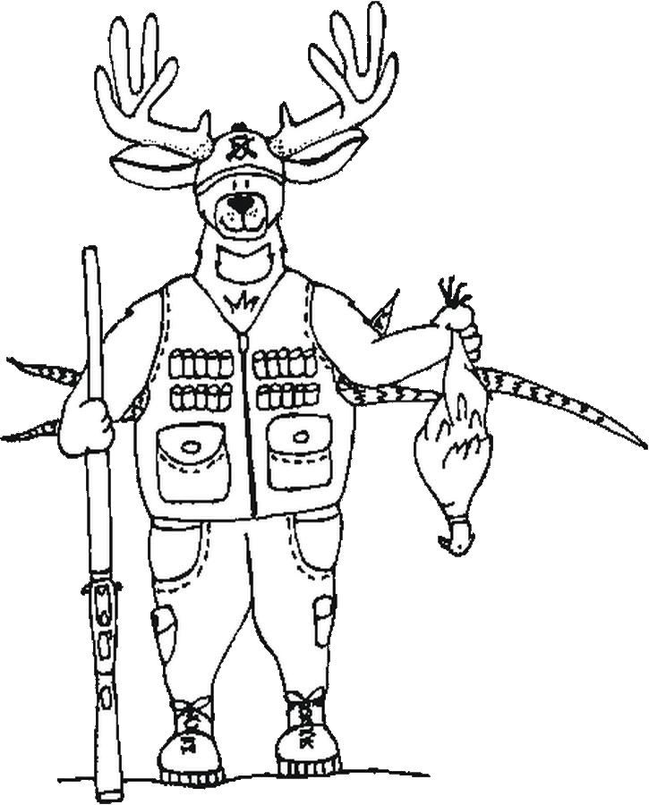 Duck Hunting Coloring Pages