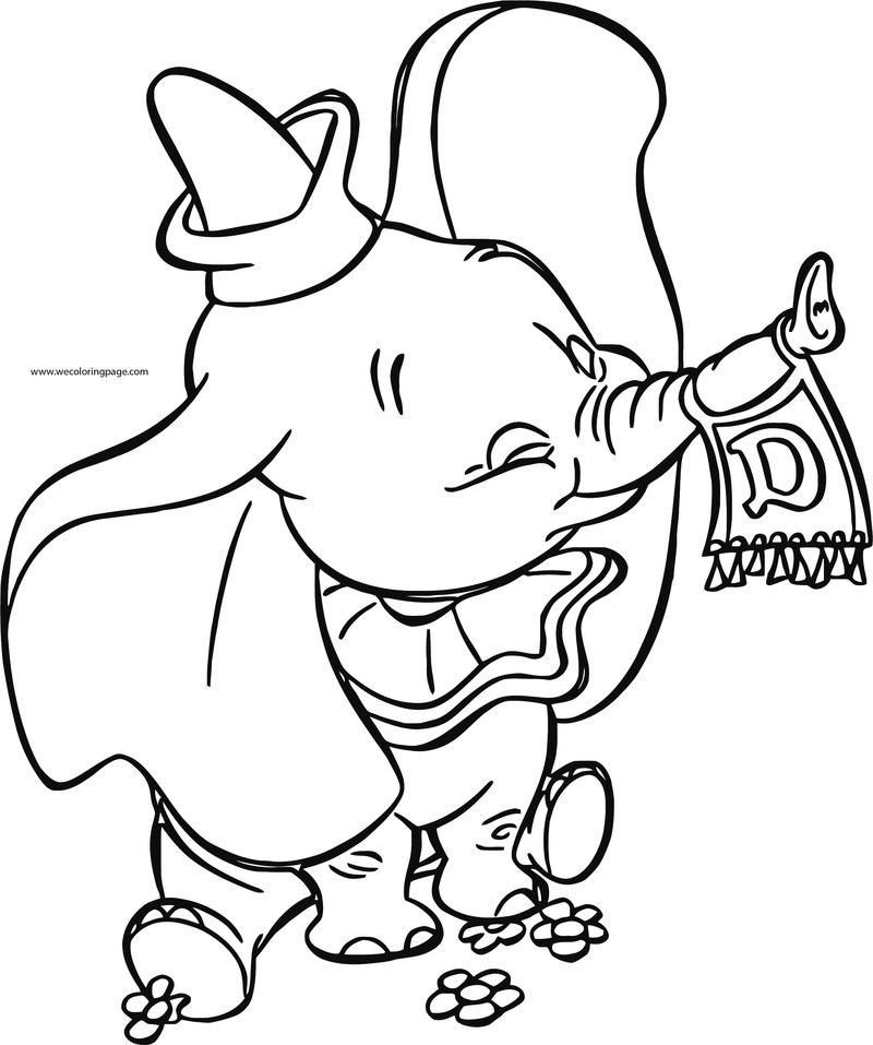 Dumbo Flag Flower Coloring Pages