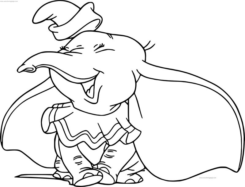 Dumbo happy coloring pages