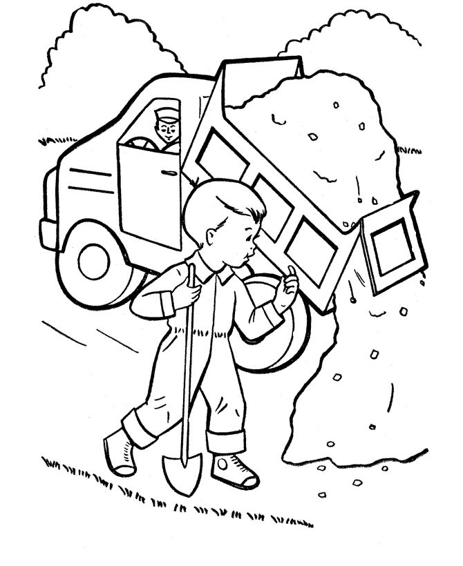 Dump Truck Coloring Page 001