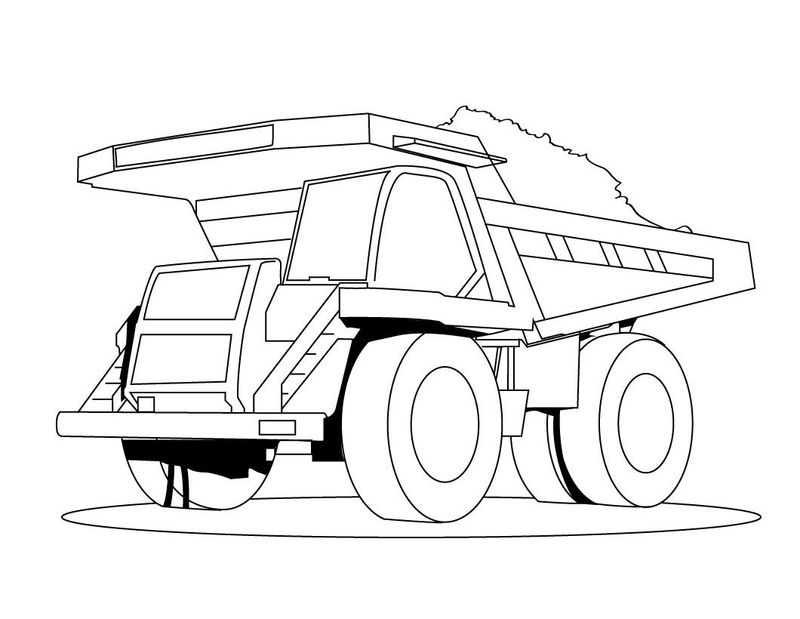 Dump Truck Coloring Pages 001