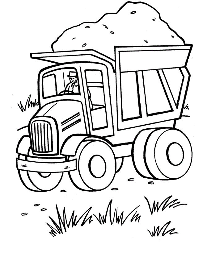 Dump Truck Coloring Pages Printable 001
