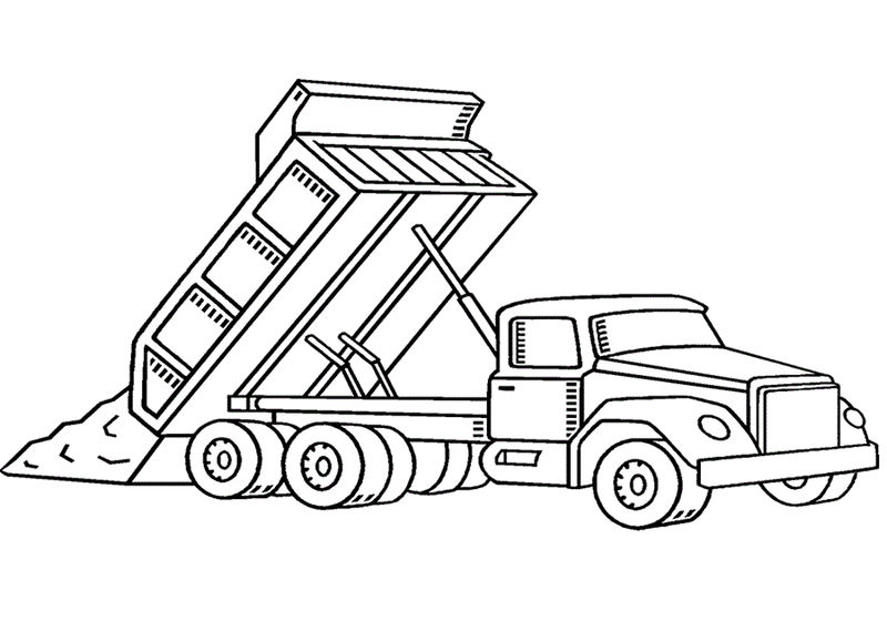 Dump Truck Coloring Pages To Print 001
