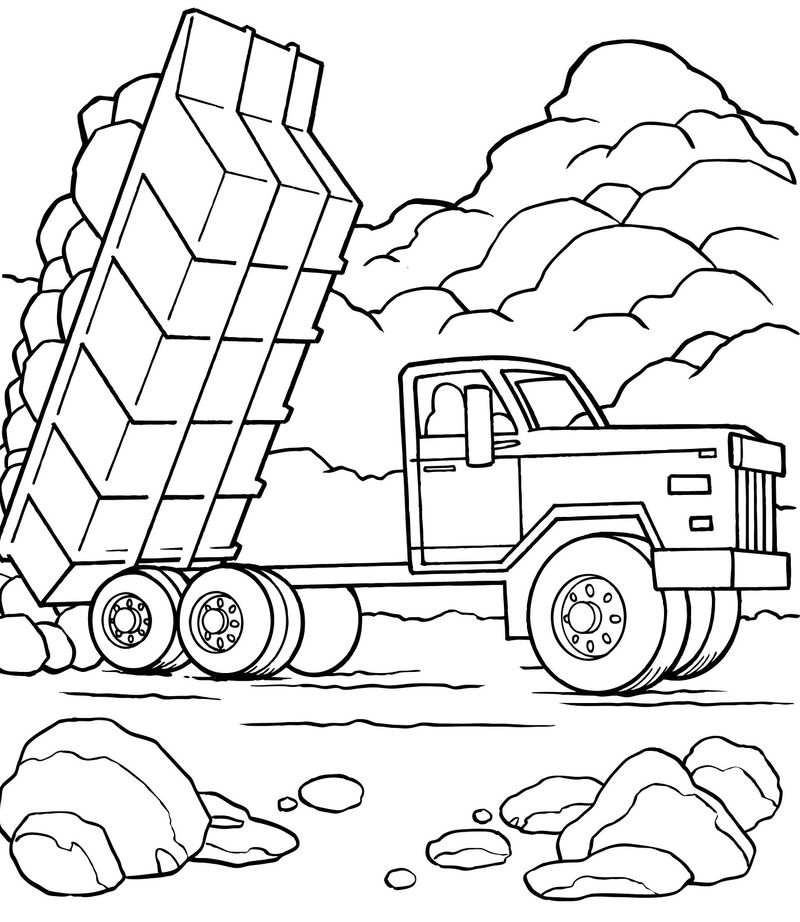 Dump Truck Pictures For Kids Large