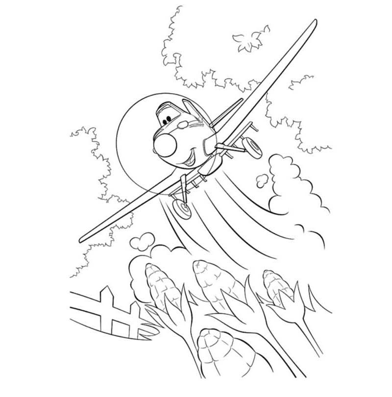Dusty Airplane Coloring Pages