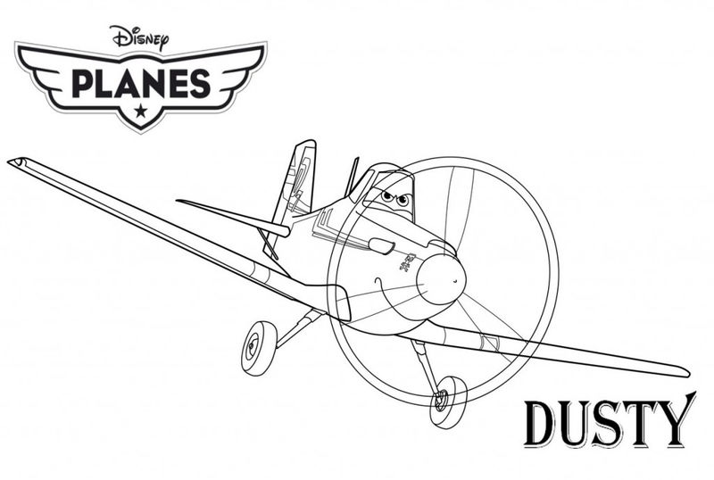 Dusty Planes Coloring Pages