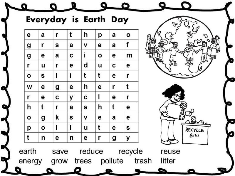 Earth Day Word Search Game